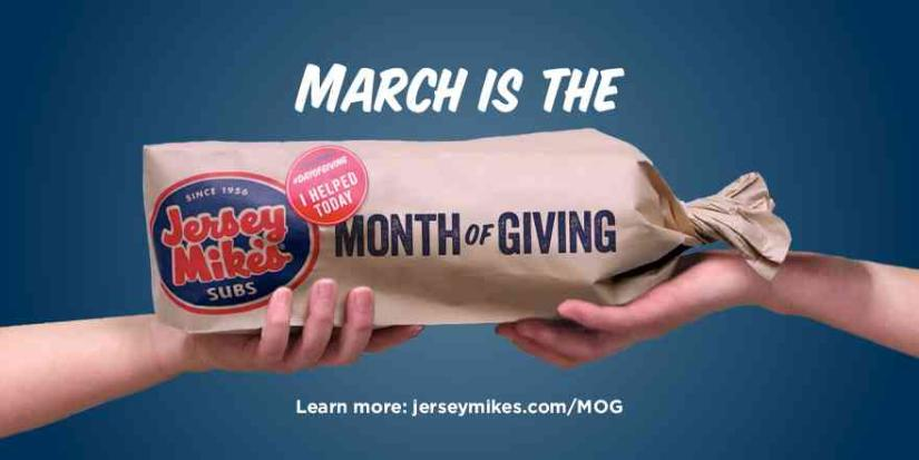 Jersey Mike's Month of Giving Sandwich